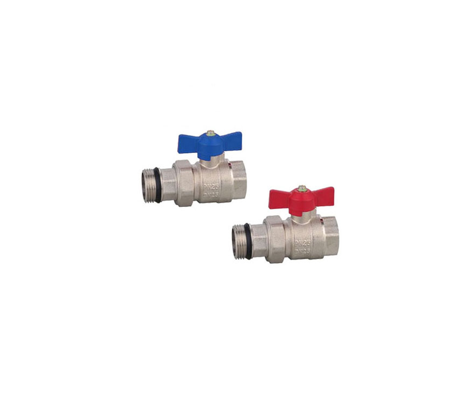 1 Inch Ball Valve set for Manifold Blue and Red Handle