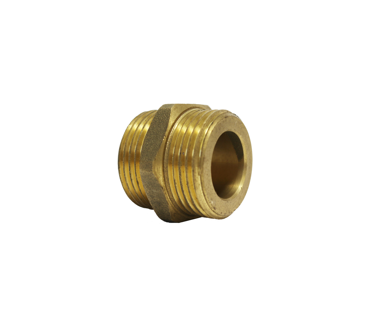 "Nipple male thread with flat seat for corrugated steel pipe 3/4""×3/4"""