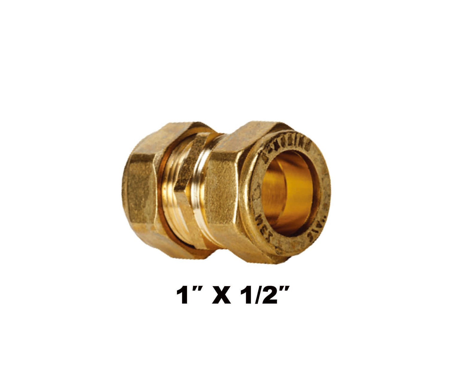 "Straight Compression Coupler C X C 1″ X 1/2"" (31031)"