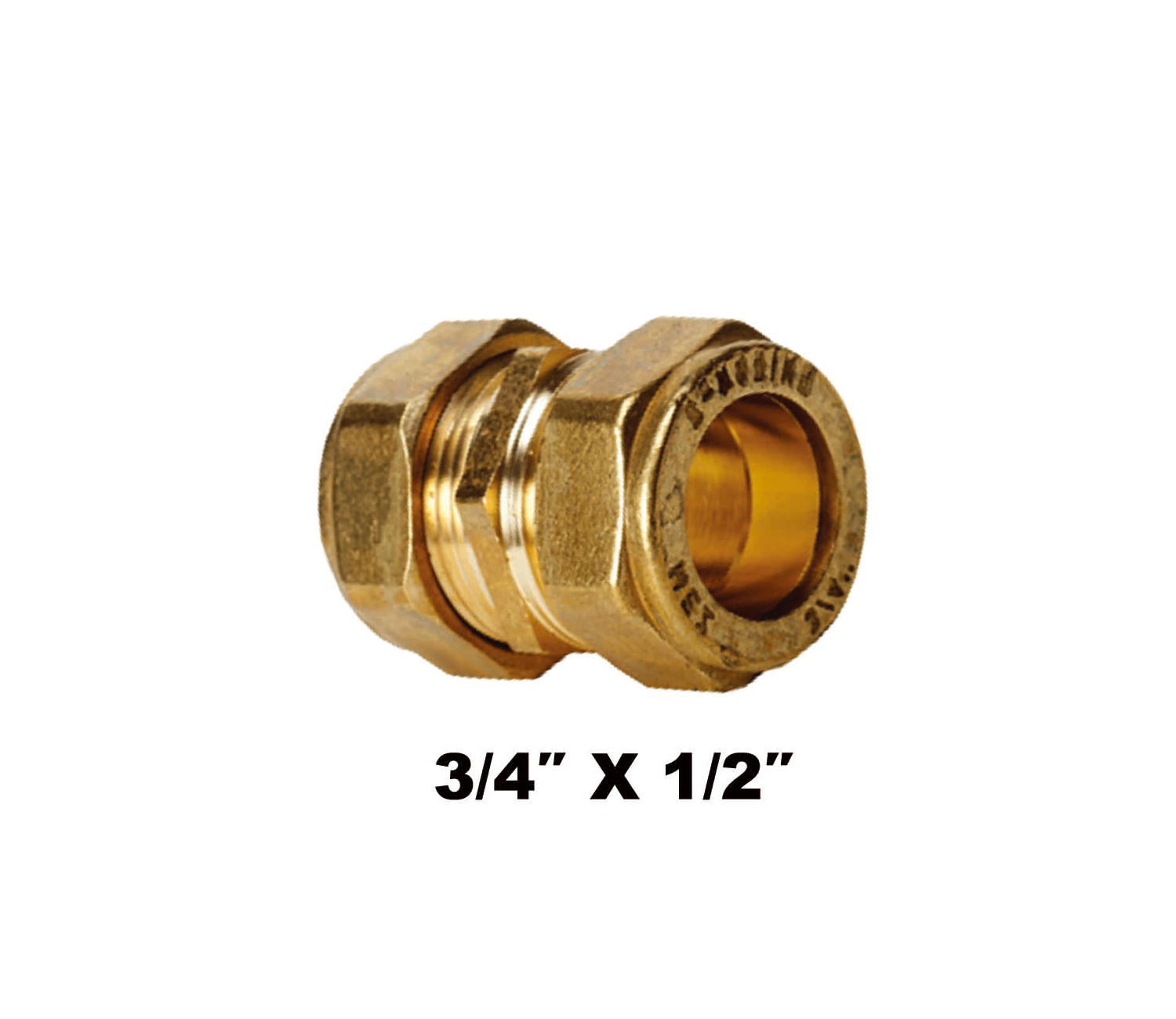 "Straight Compression Coupler C X C 3/4″ X 1/2"" (31021)"