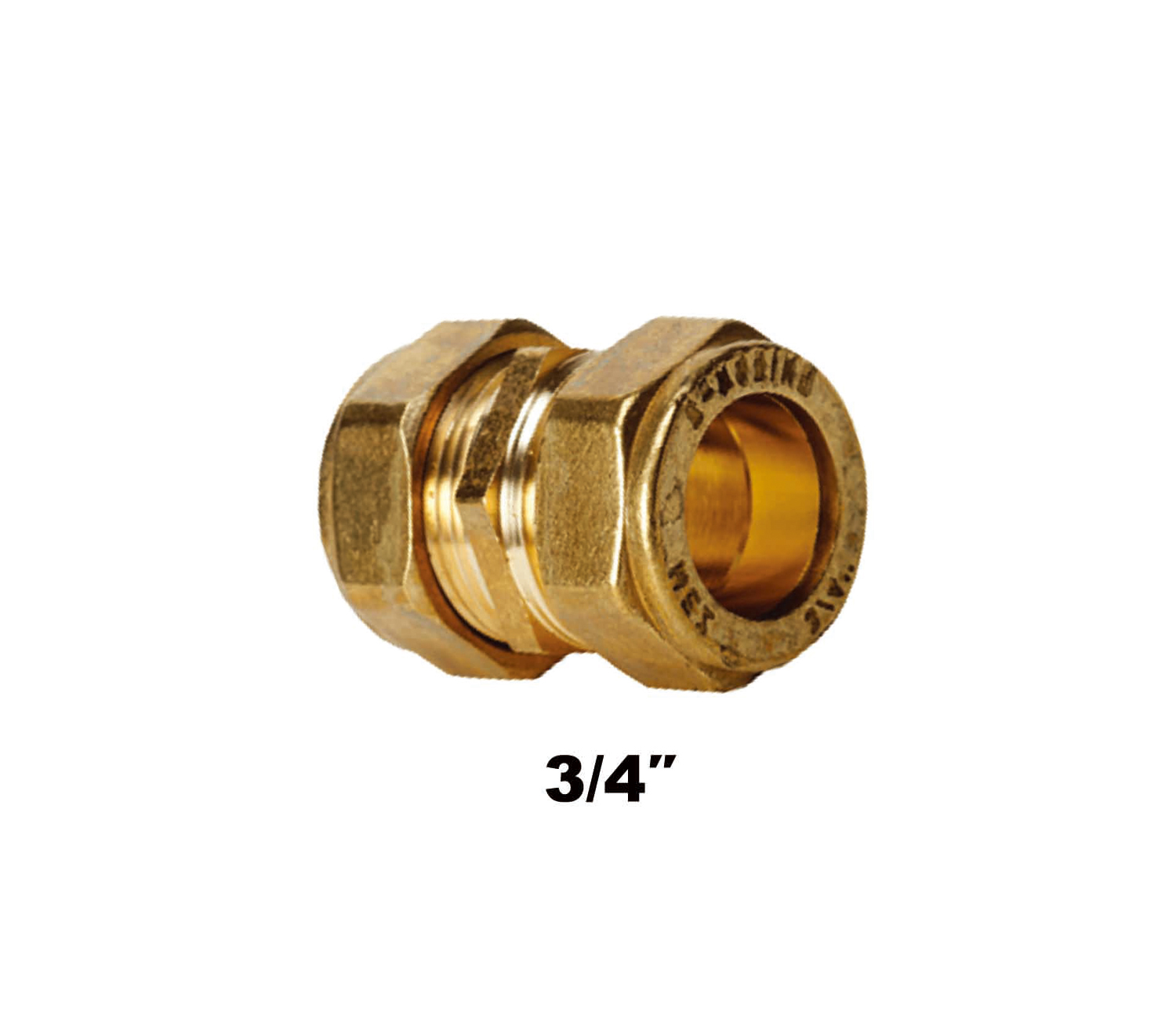 Straight Compression Coupler C X C 3/4″ (3102)