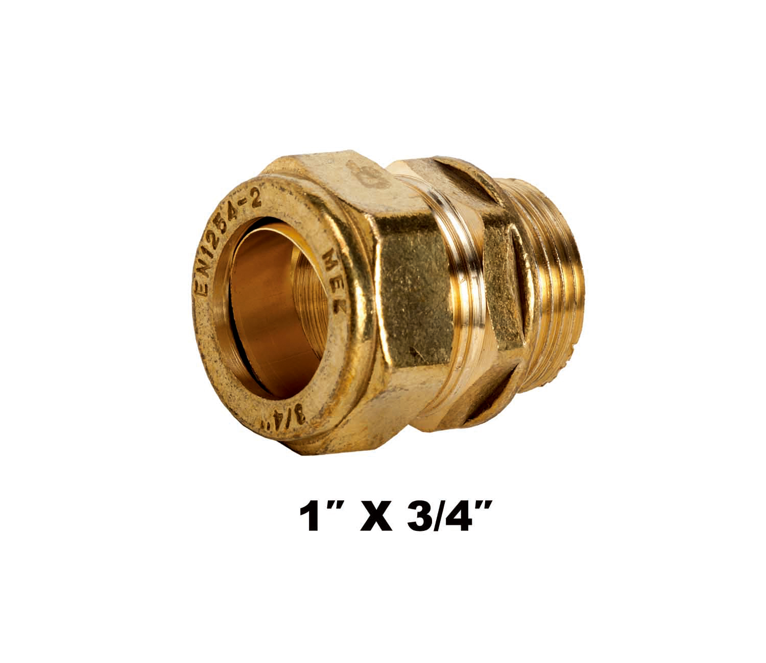 Straight Compression Coupler MI X C 1″ X 3/4″ (31132)