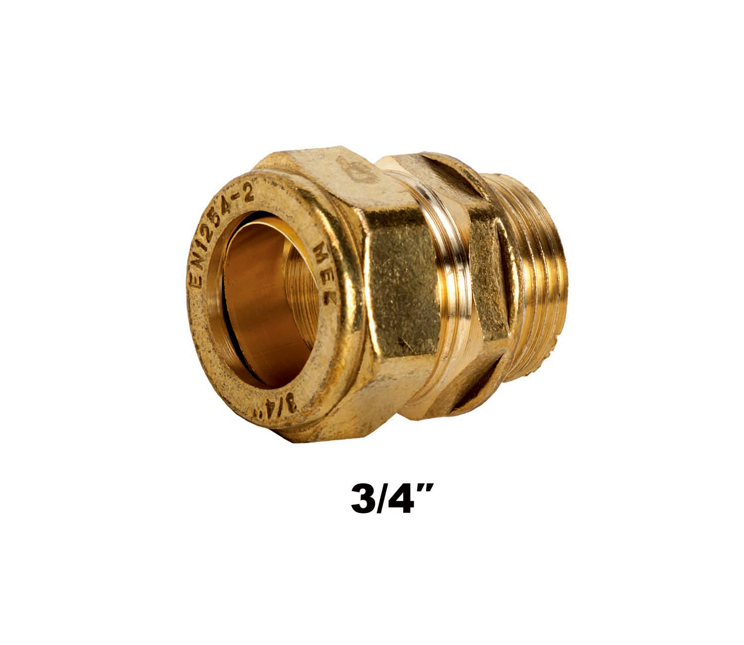 Straight Compression Coupler MI X C 3/4″ (3112)