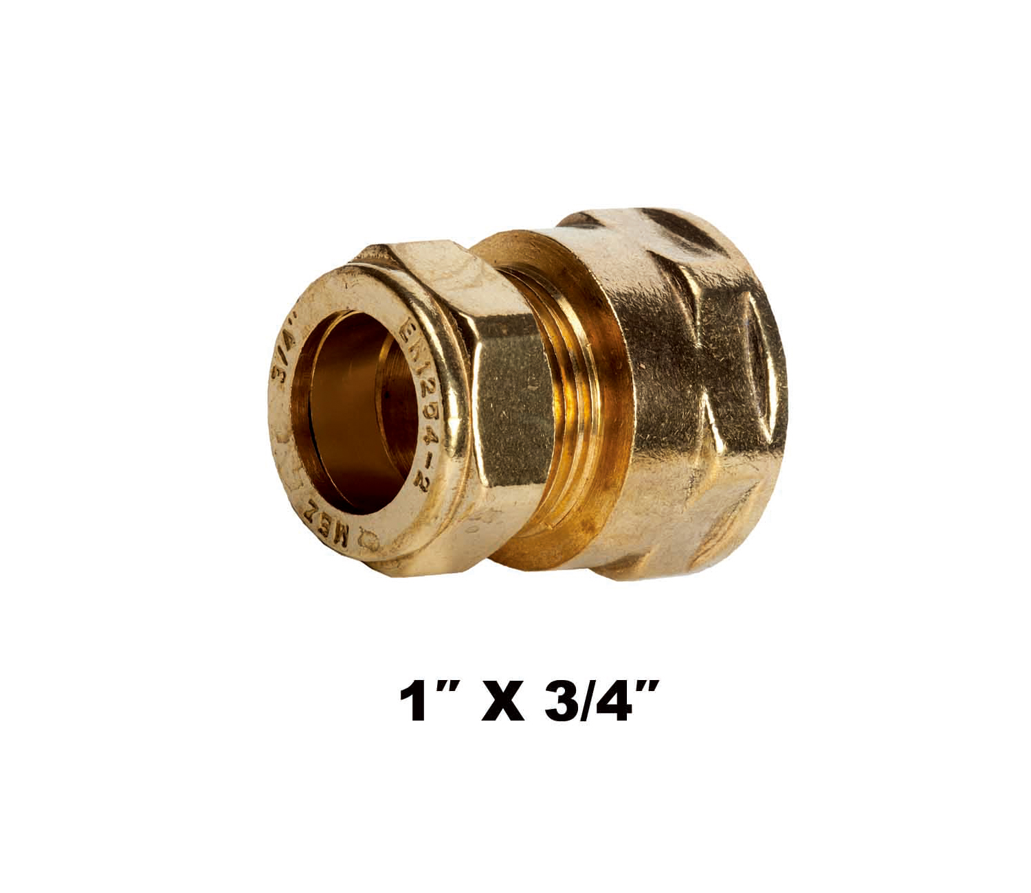 Straight Compression Coupler FI X C 1″ X 3/4″ (31232)