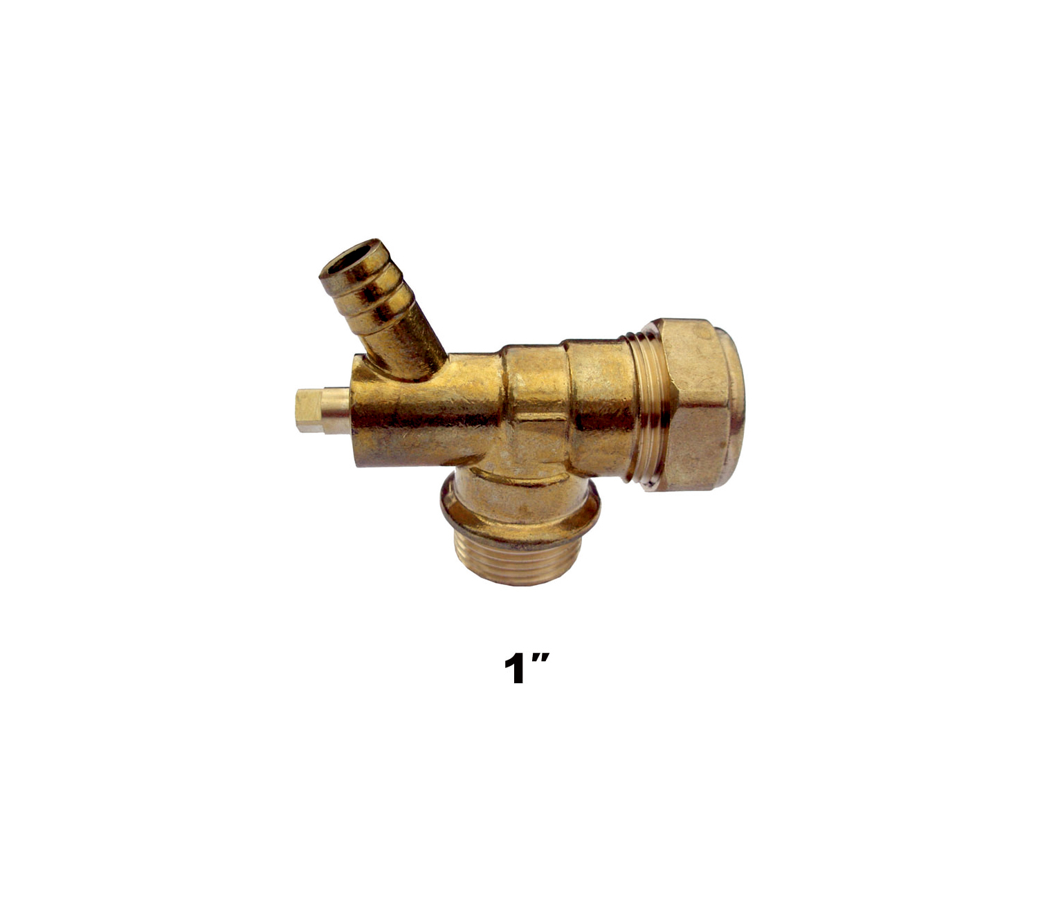 "Compression Male Elbow & Drain Off 1"" (8713)"