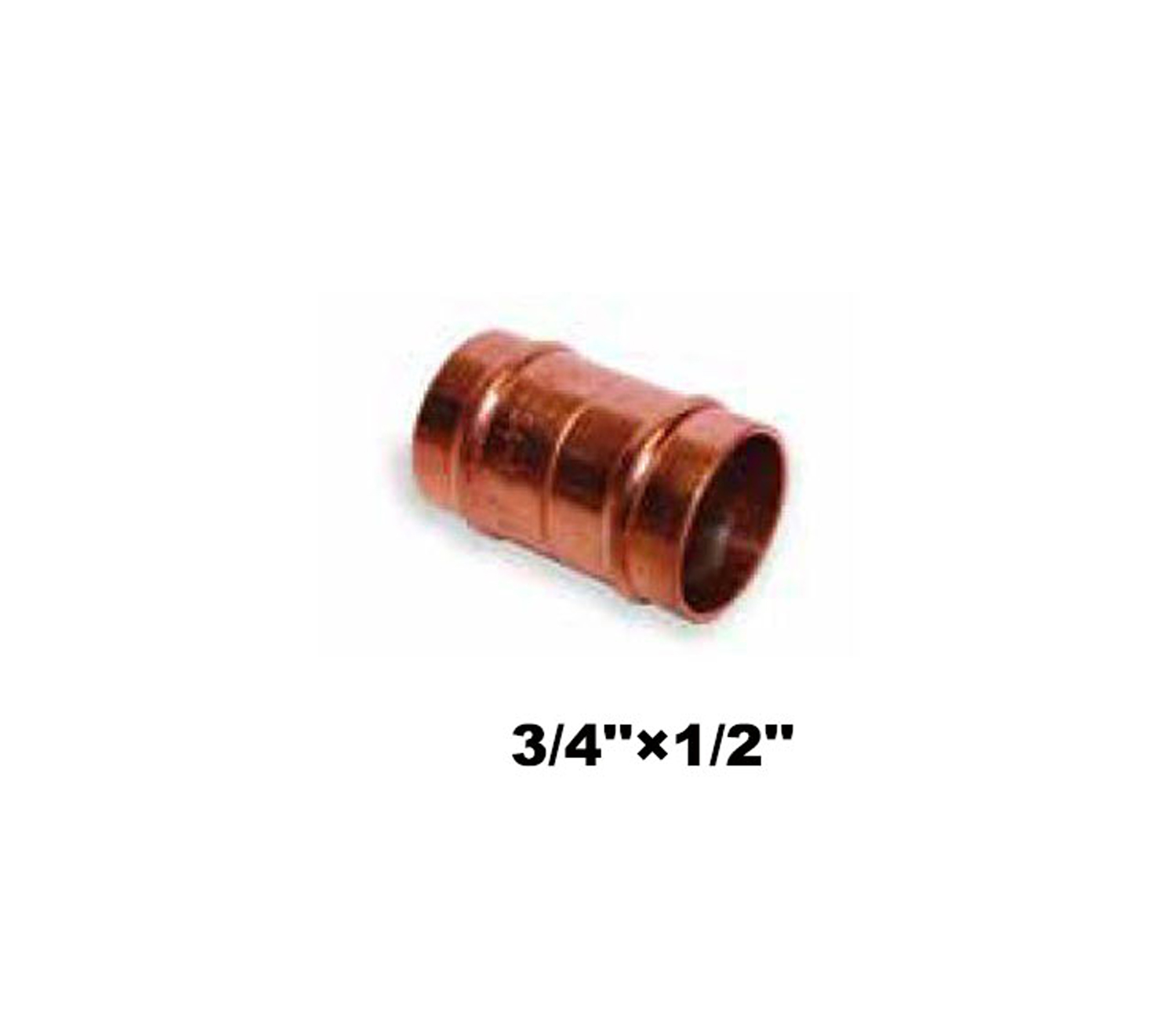 "Straight Compression Coupler C×C 3/4""×1/2"" (10021)"
