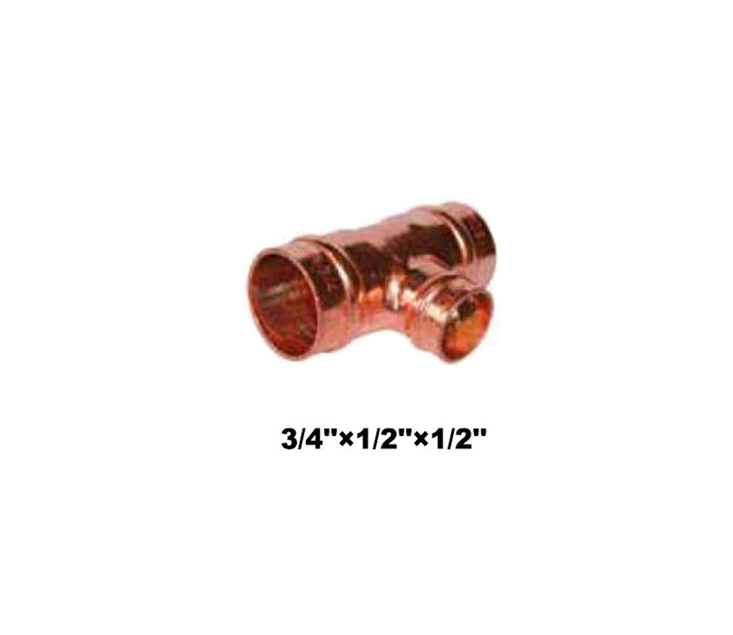 "Compression Reducing Tee C×C×C 3/4""×1/2""×1/2"" (18211)"
