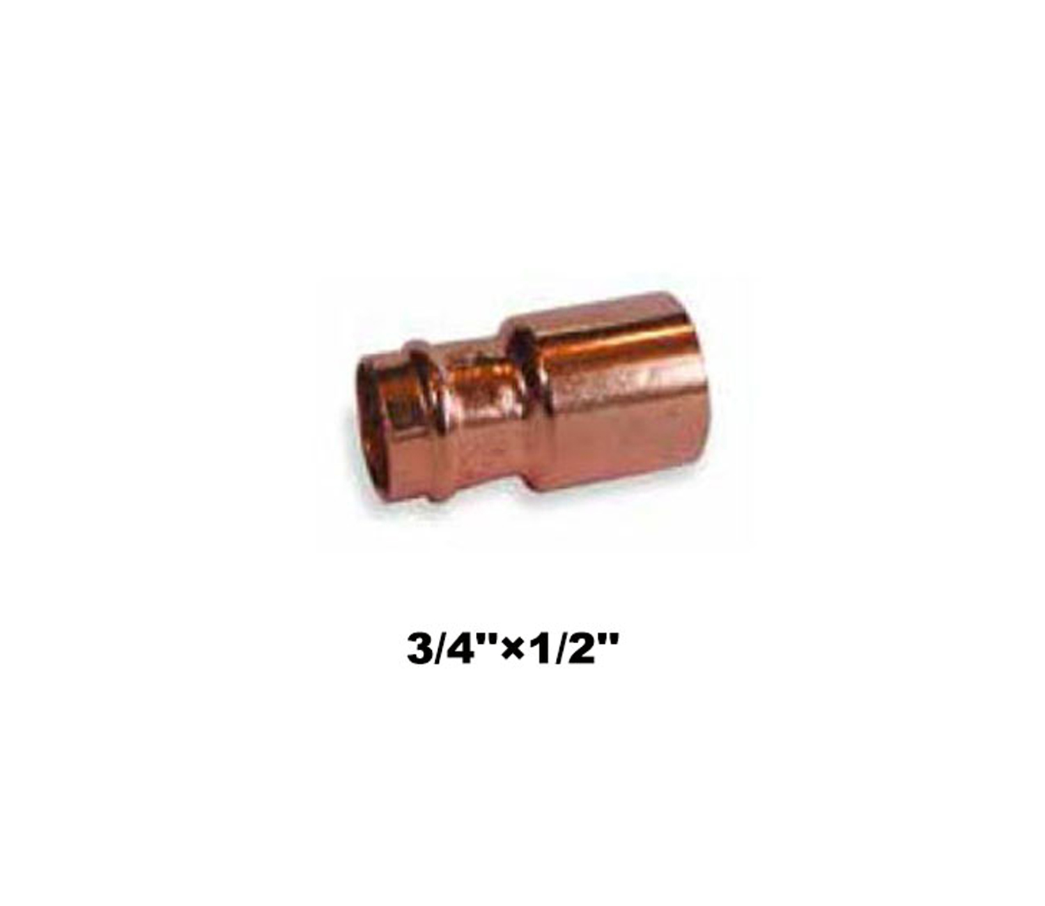 "Compression Fitting Reducer 3/4""×1/2"" (19021)"