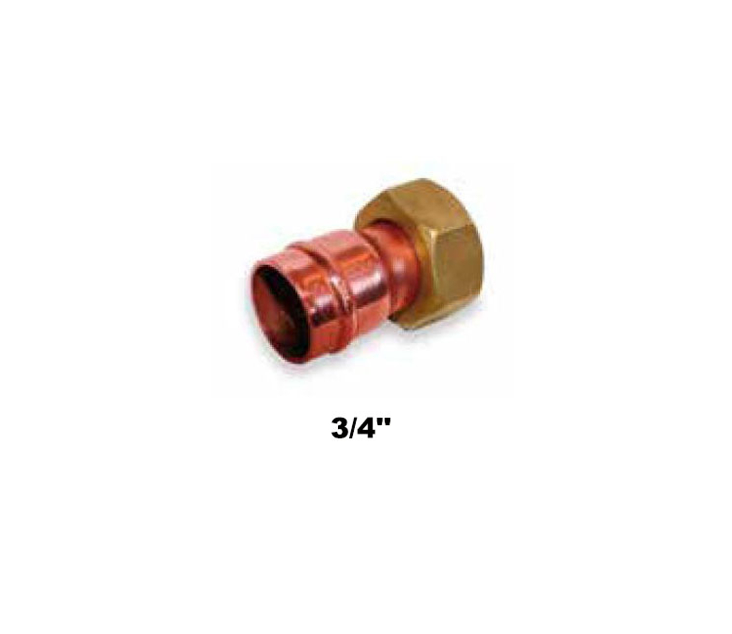 "Straight Compression Tap Connector C×F.I. 3/4"" (14002)"