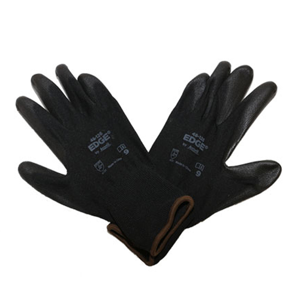 Ansell EDGE® 48-126 PU Coated Work Gloves – Black Color