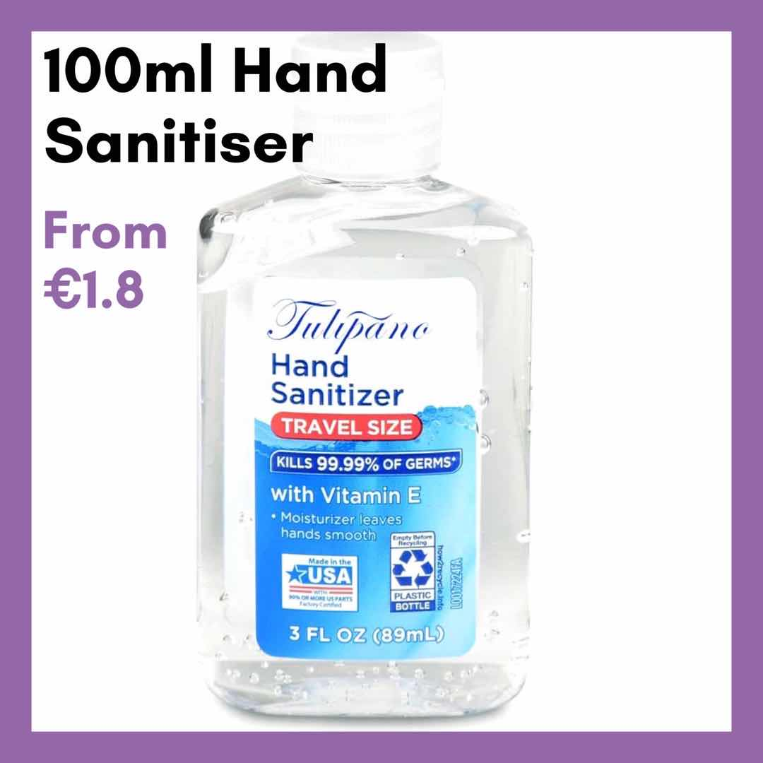 75% Alcohol Hand Sanitizer 100ml Mini Hand Gel Pocket Size Disinfectant Travel Hand Wash