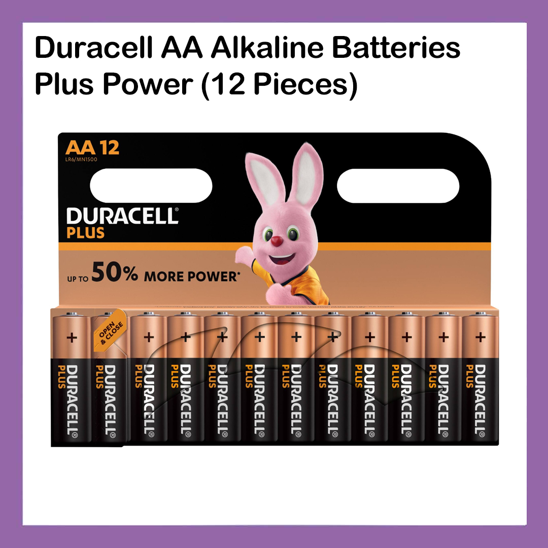 Duracell AA Alkaline Batteries  Plus Power (12 Pieces)