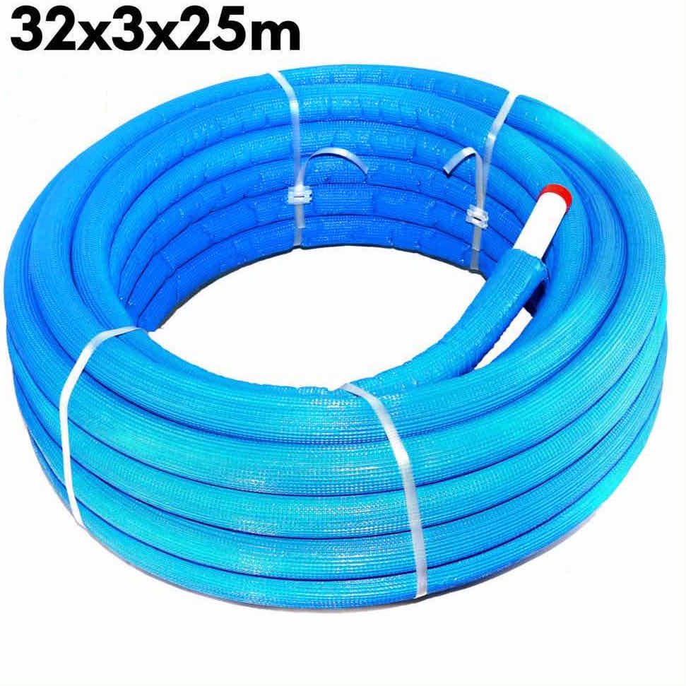 PEX-AL-PEX Multilayer Insulated Pipe Insulation Blue 32 x 3.0 × 25 m