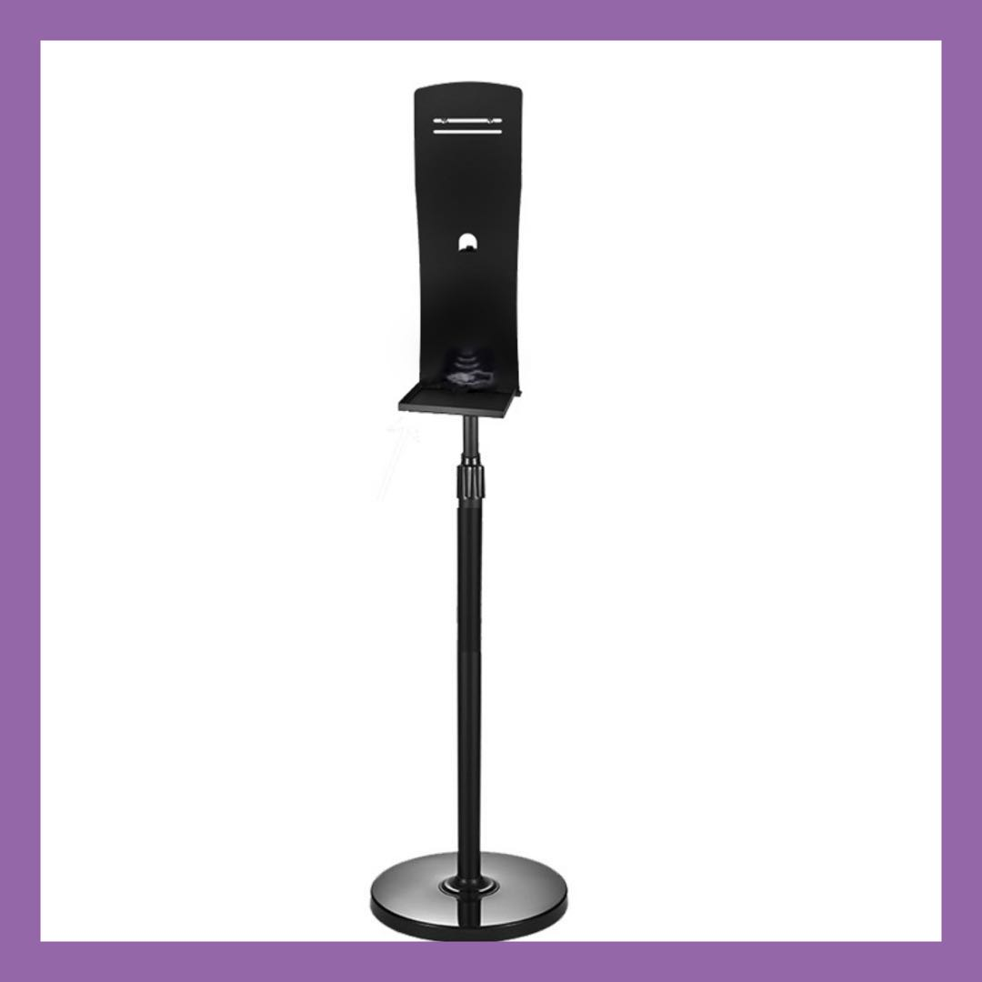 Freestanding Stainless Steel Stand Height Adjustable Stand for Dispensers with Drip Tray