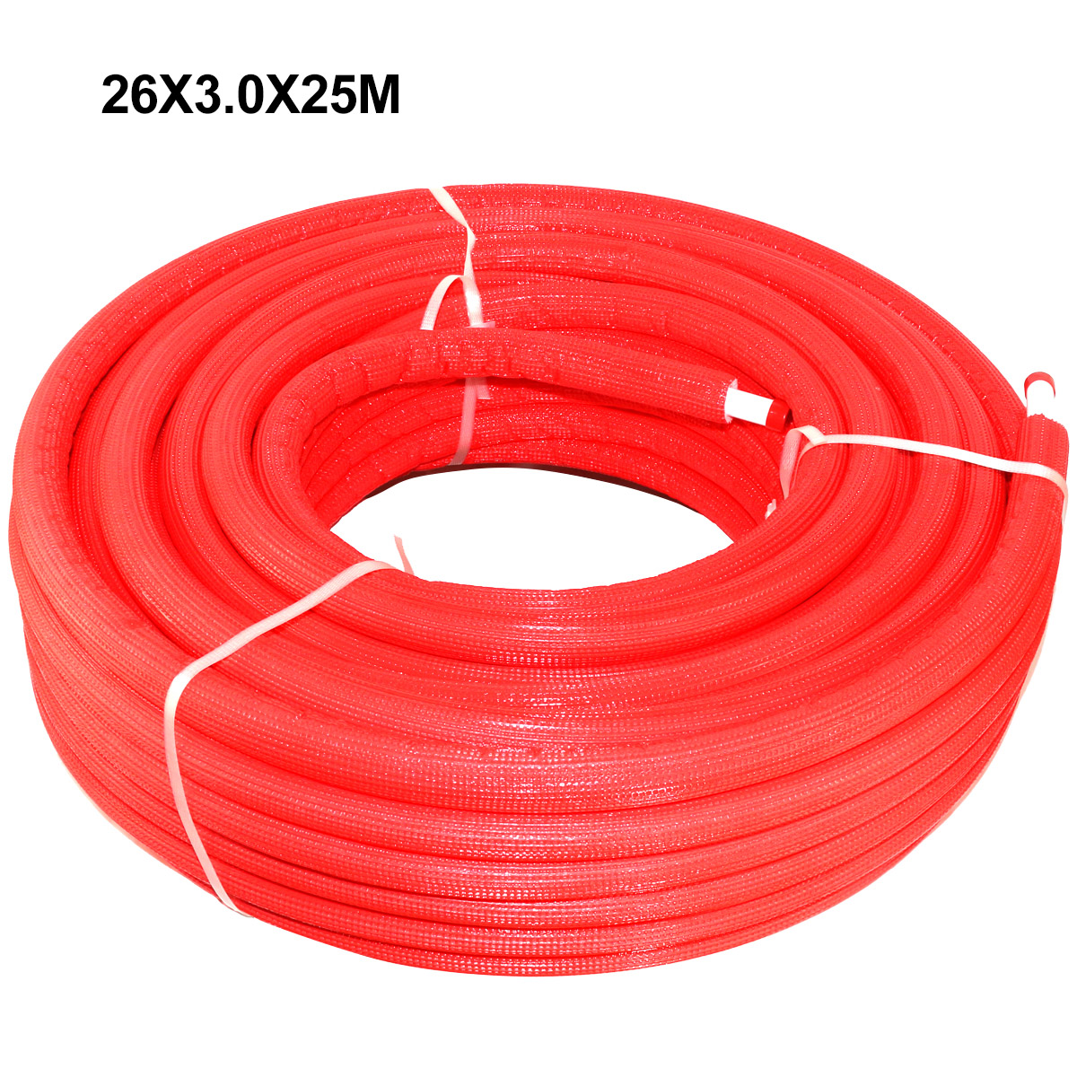 PEX-AL-PEX Multilayer Insulated Pipe Insulation Red 26 x 3.0 × 25 m