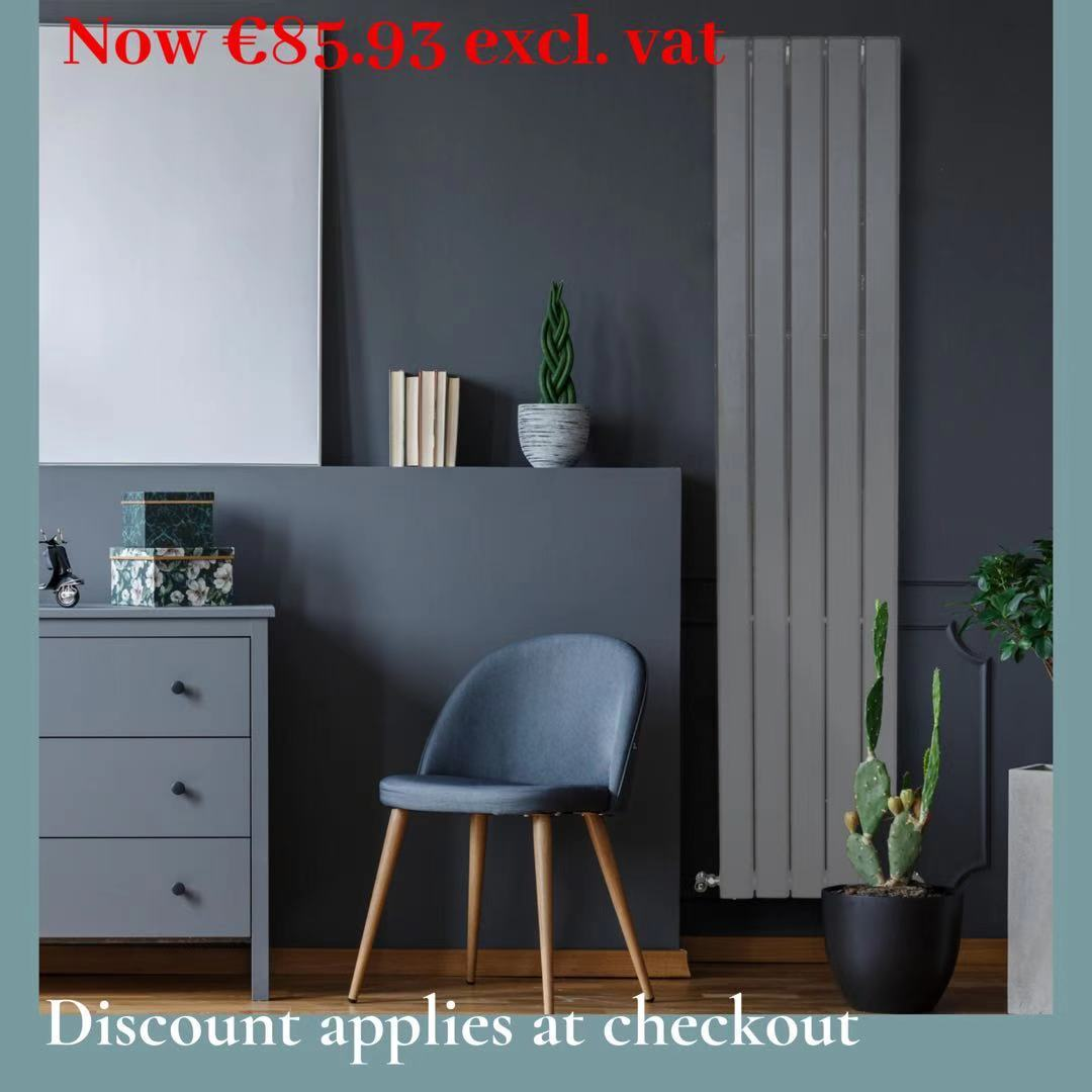 Piave Designer Radiator Grey Large RAD-AF-US01006G