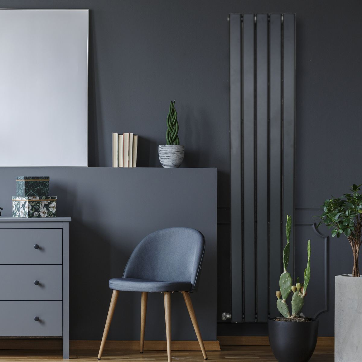 Piave Designer Radiator Black Large RAD-AF-US01006B