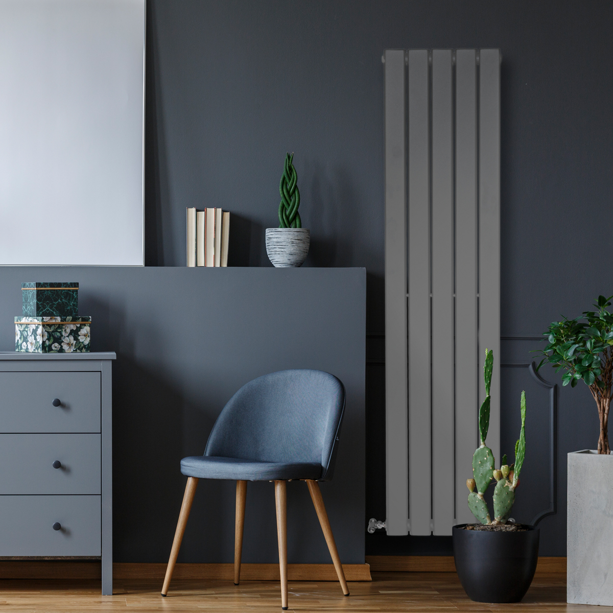 Piave Designer Radiator Grey Medium RAD-AF-US01005G