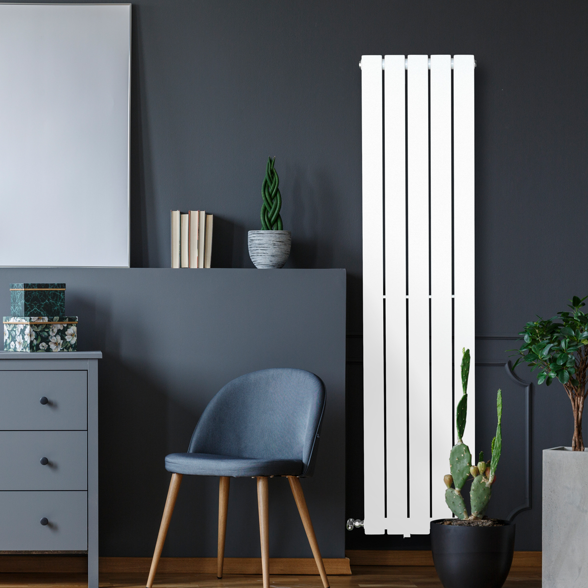 Piave Designer Radiator White Medium RAD-AF-US01005W