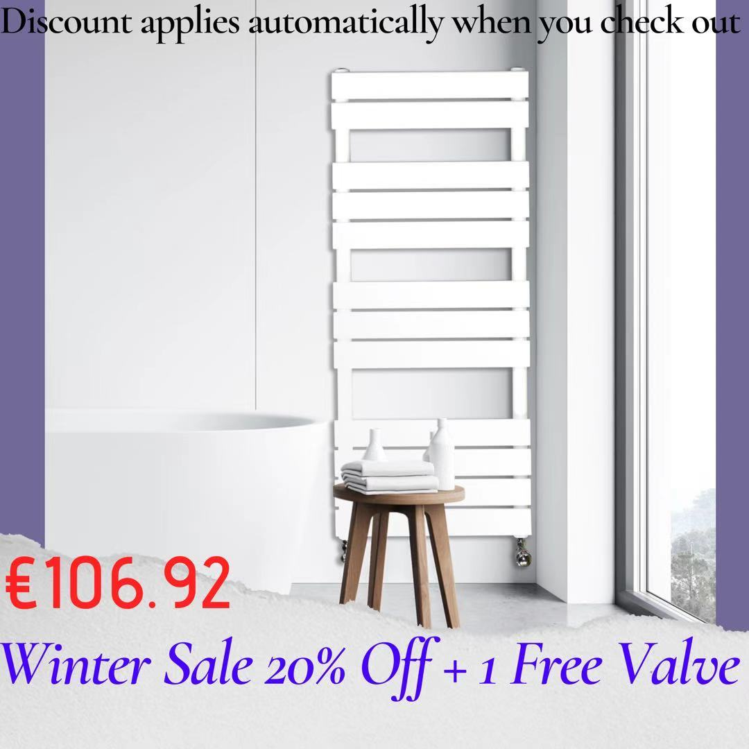 Adige Designer Towel Radiator White Medium RAD-AF-FR01005W