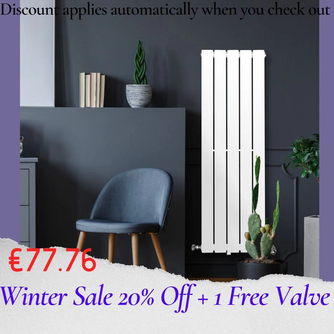 Piave Designer Radiator White Small RAD-AF-US01004W