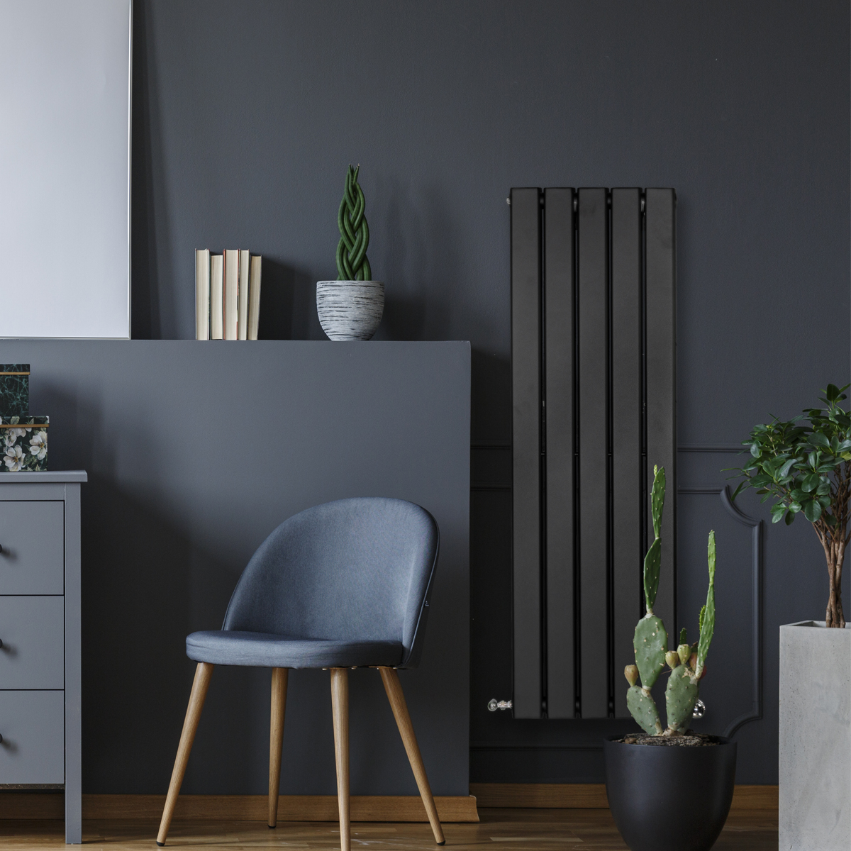 Piave Designer Radiator Black Small RAD-AF-US01004B