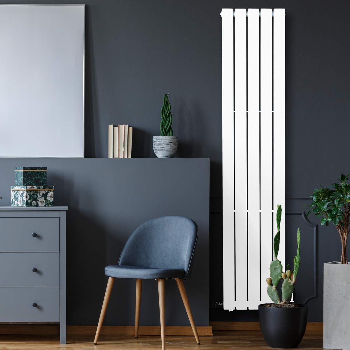 Piave Designer Radiator White Large RAD-AF-US01006W
