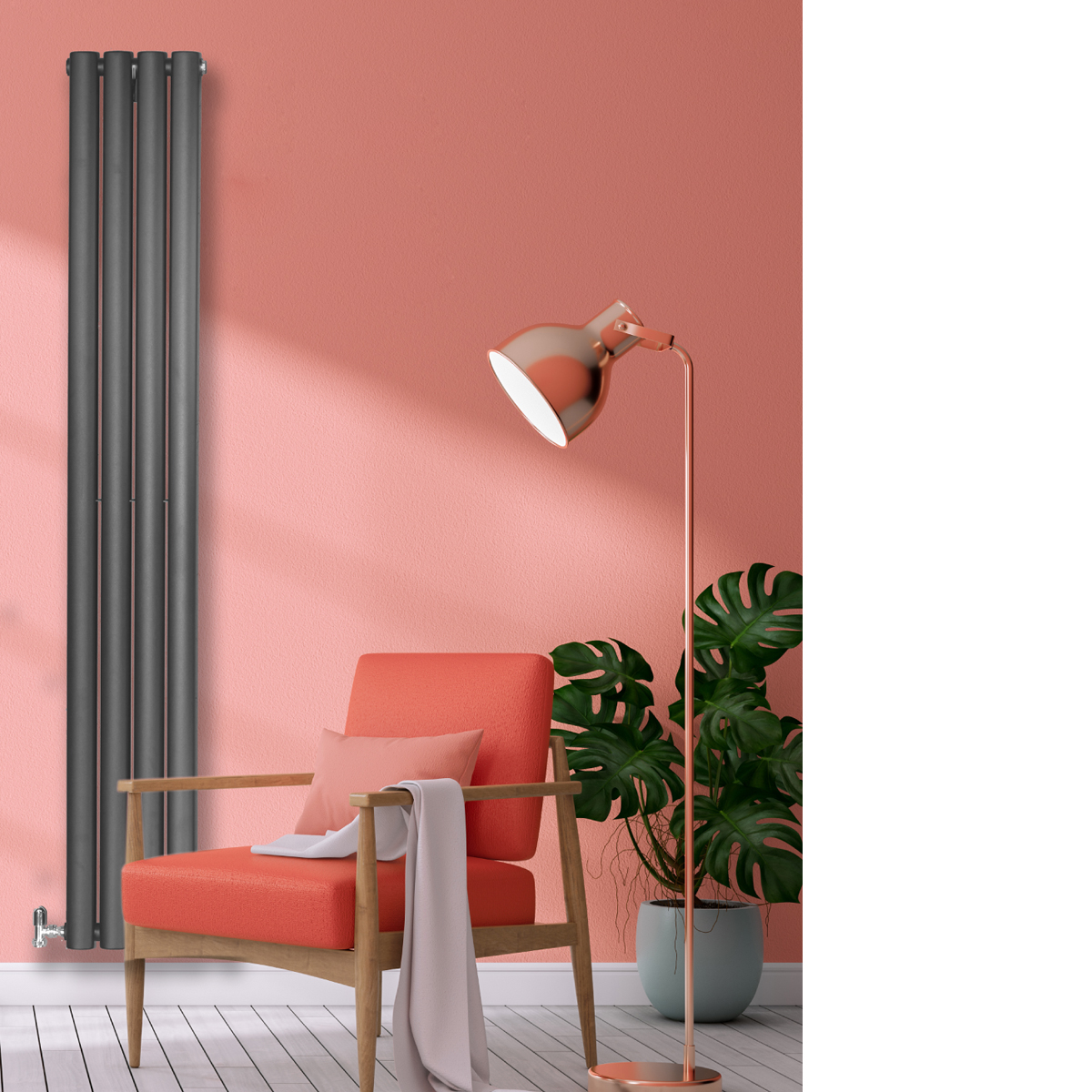 Savio Designer Radiator Grey SmallRAD-AF-UT02001G