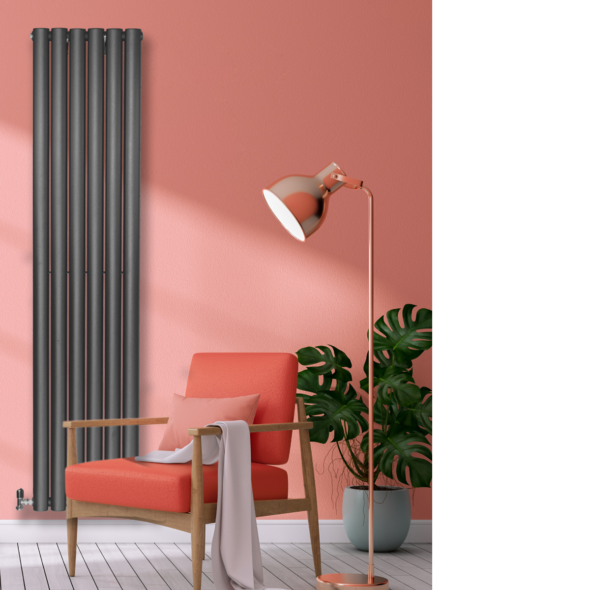 Savio Designer Radiator Grey Medium RAD-AF-UT02002G